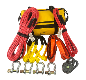 up to 10K Double Line Pull Winch Recovery Kit