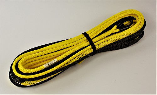 "7/16""-65' Freedom Optimized Winch Rope Made In Canada with SupreemX 12 MBS 20,000 lbs Lemon yellow"