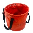 Freedom Recovery Gear Rope Bucket Fire-bucket Red with Lid folded back