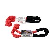 "Tuff-X 7/16 x 10"" Soft Shackle MBS 45,000 lbs Firecracker Red with Chafe Guard"